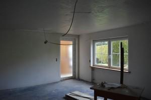 Eingang über den Wohn- Essbereich mit Küche