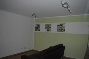 In den Wohnungen werden die Lampen und auch die ersten Kunstwerke aufgehängt