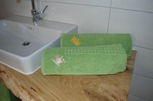 Damit die Handtücher auch unterschieden werden können...